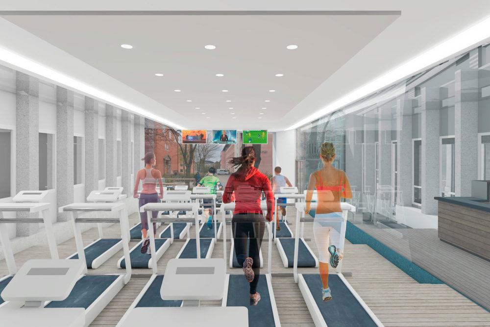 Ett rom - flerbruk - her som treningsrom.