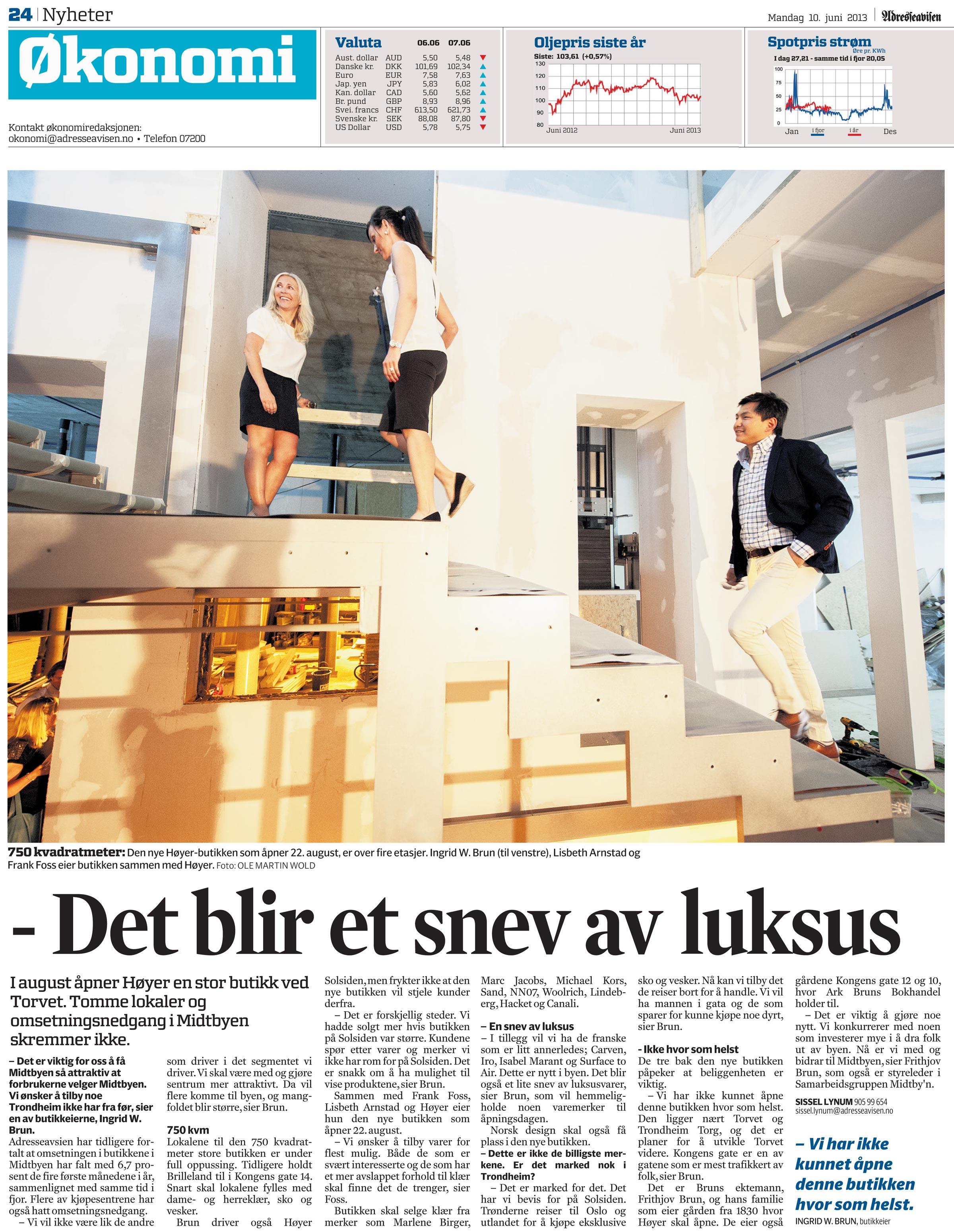 Adressa_okonomi_det_blir_et_snev_av_luksus_Hoyer_butikk_ved_torget_Midtbyen_Trondheim_del1