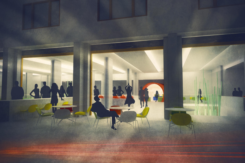 kunsthall_bankstasjon_snitt_arkitektur_brannstasjonen_bergersenarkitekter_søndre_gate_passasje_bibliotek_konkurranse_arkitekturkonkurranse