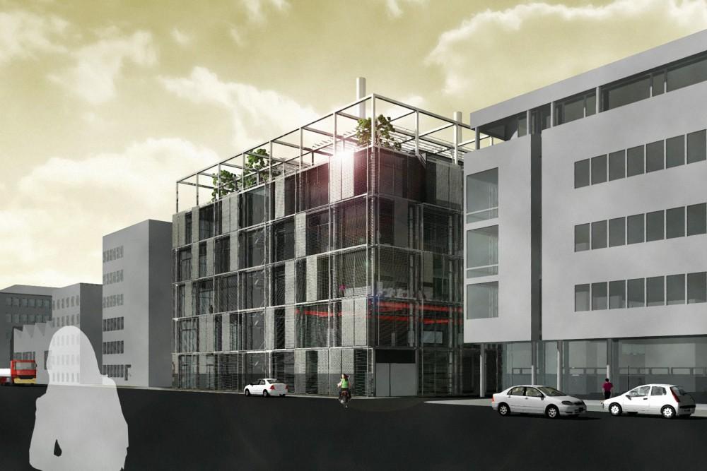 arkitektur_torndheim_forslag_utforming_laboratoriebygg_gloshaugen_ntnu_sintef_forsteplass_arkitektkonkurranse_fasade_gateplan