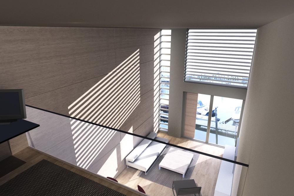 arkitektur_trondheim_brygge_brygger_bryggene_trebrygger_trebryggene_fjordgata_26_28_interiorperspektiv_over_to_etasjer