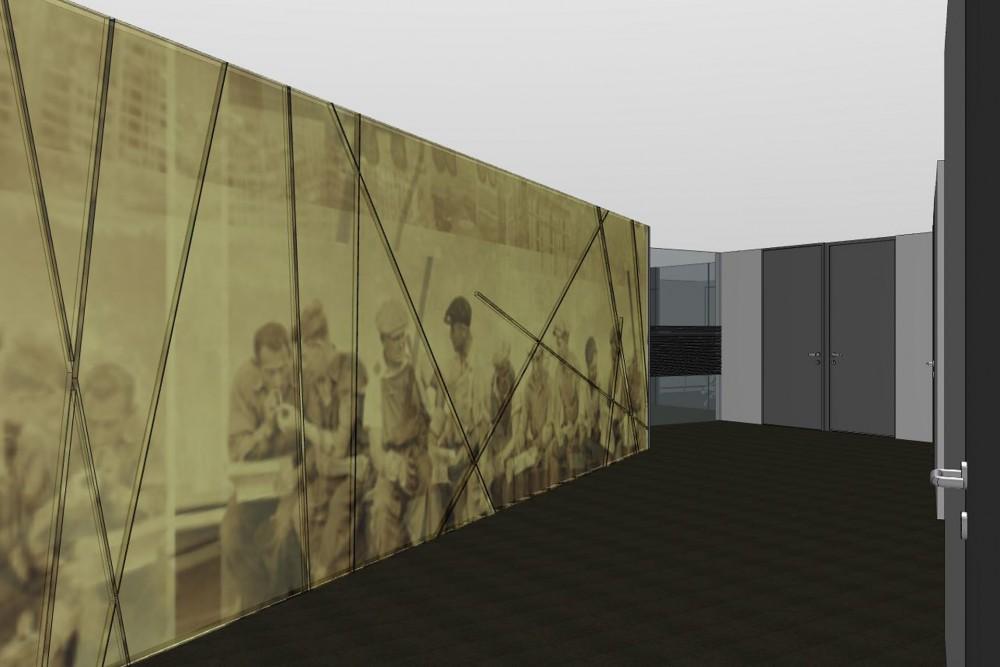 arkitektur_trondheim_folkets_hus_rehabilitering_olav_tryggvasons_gate_interior_gang_korridor_grafisk_veggkunst