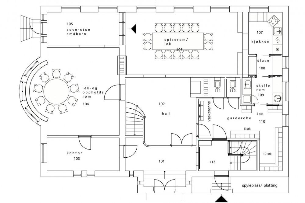 arkitektur_trondheim_midtbyen_barnehage_rehabilitering_oppgradering_elvegata_1_b_nye_planlosninger