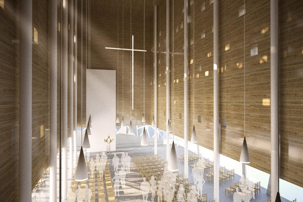 arkitektur_trondheim_ny_katolsk_domkirke_forslag_utforming_interior_kirkerom_utsikt_galleri_galleriet