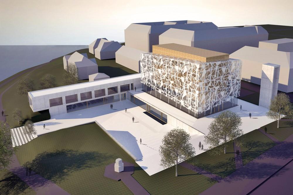 arkitektur_trondheim_ny_katolsk_domkirke_forslag_utforming_oversiktsperspektiv_domkirkeplassen