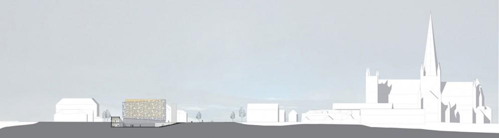 arkitektur_trondheim_ny_katolsk_domkirke_forslag_utforming_snitt_nidarosdomen_domkirka