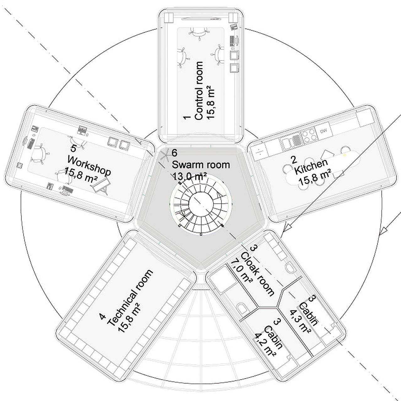arkitektur_trondheim_sintef_ntnu_design_act_modul_eu_prosjekt_kontorer_verksted_plan_planlosning_plantegning