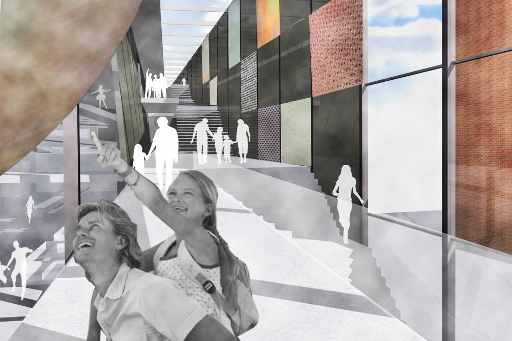 arkitektur_trondheim_vitensenter_ntnu_vitenskapsmuseum_forsteplass_arkitektkonkurranse_interior_trapp_trapperom_glassfasade