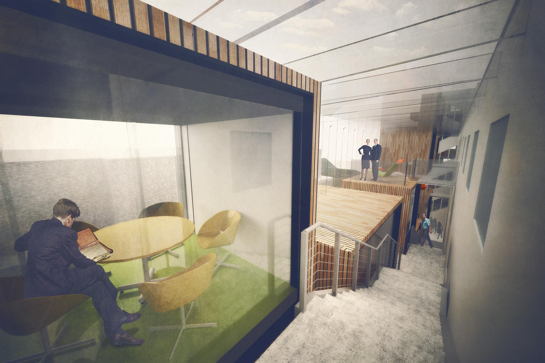 bankstasjon_illustasjon_3D_tilbygg_arkitektur_brannstasjonen_bergersenarkitekter_søndre_gate_passasje_bibliotek_konkurranse_arkitekturkonkurranse