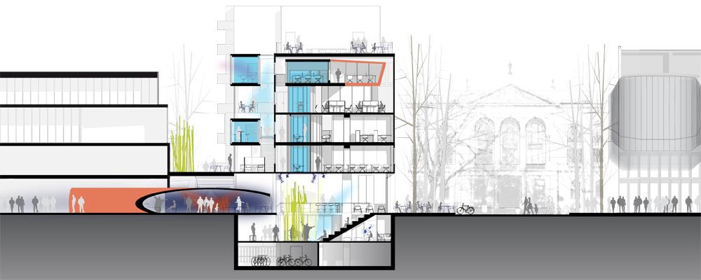 bankstasjon_snitt_arkitektur_brannstasjonen_bergersenarkitekter_søndre_gate_passasje_bibliotek_konkurranse_arkitekturkonkurranse