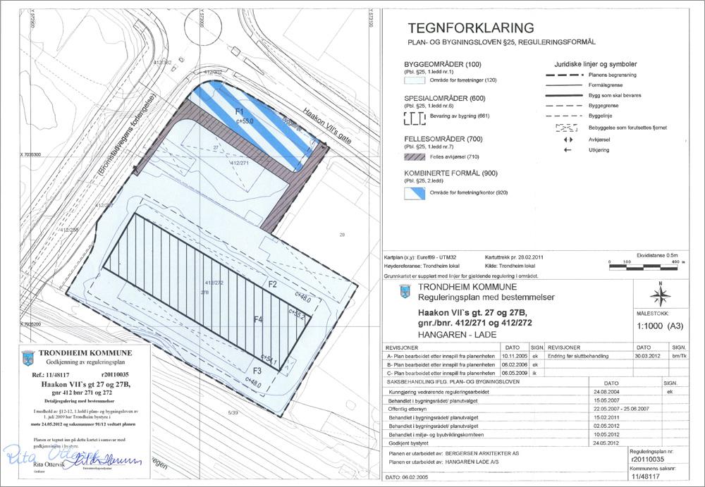 reguleringsplan_trondheim_kommune_lade_hangaren_haakon_viis_gate_27_27b_kart