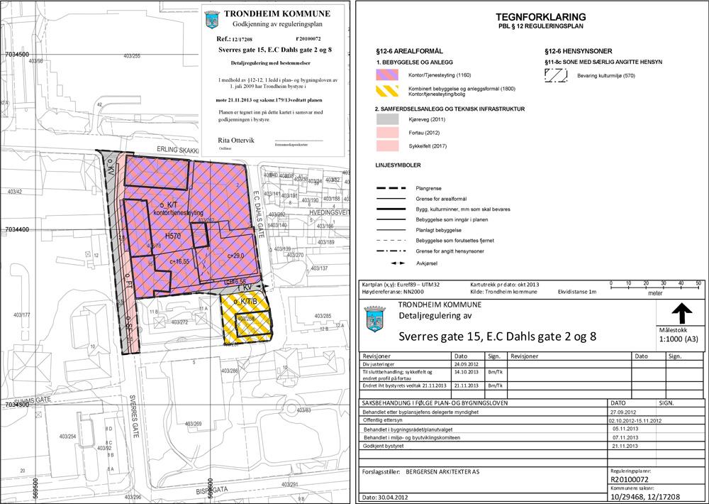reguleringsplan_trondheim_kommune_midtbyen_sverres_gate_15_ec_dahls_gate_2_og_8_kart