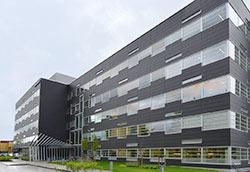 Nytt kontorbygg med interiør